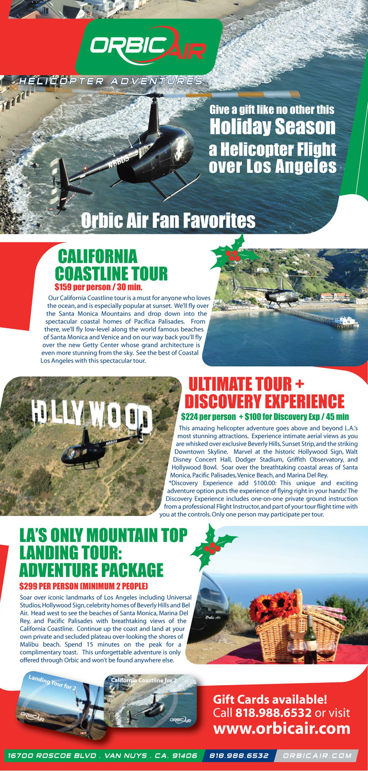Helicopter Tour Los Angles Holiday