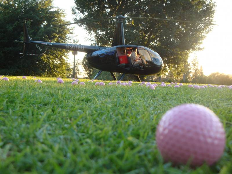 helicopter golf ball drop los angeles area