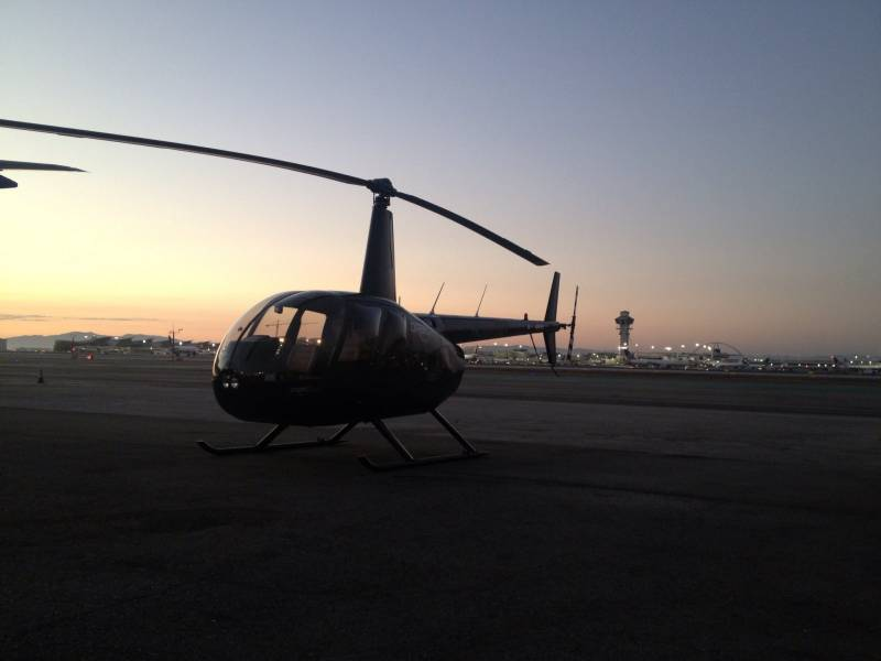 Charter Helicopter Flight From Burbank To Los Angeles International Airport