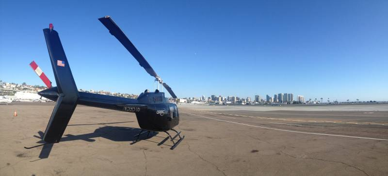 Charter Helicopter Flight From Los Angeles To San Diego International Airport