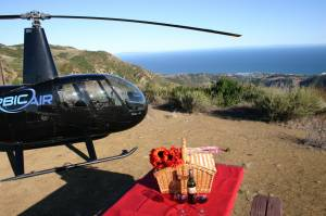 LA's Only Helicopter Mountain Top Landing Tour - Shoreline Picnic
