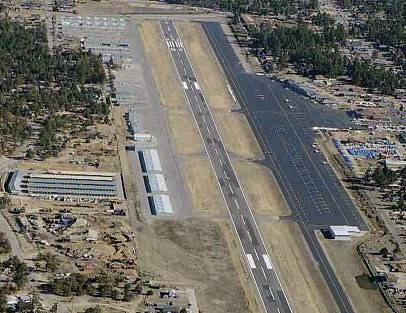Big Bear Airport by helicopter