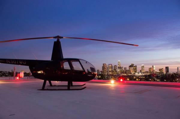 Rooftop helipad Los Angeles