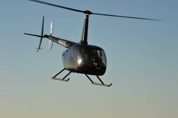 Handheld Aerial Photography R44 Helicopter
