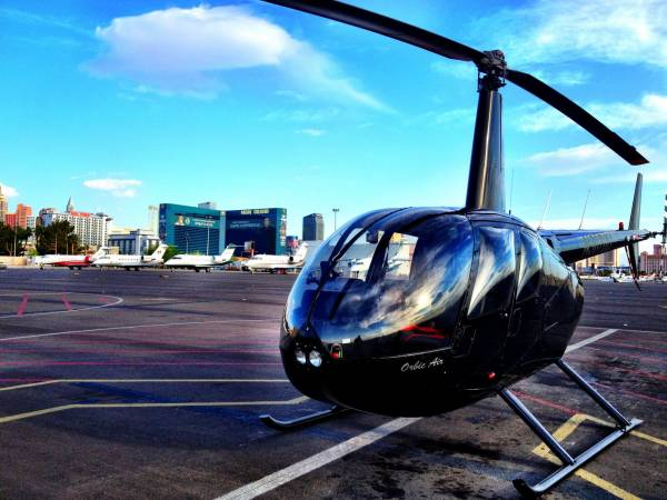 Las Vegas by helicopter