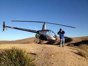 Production - Handheld Aerial Photography R22 Helicopter