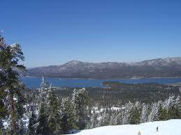 Big Bear Lake aerial view