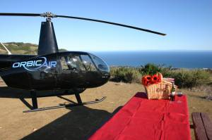 Tours - Valentine's Day Specials - Malibu Mountain Top Landing Tour for Two - Valentine's Package (Private Helicopter)