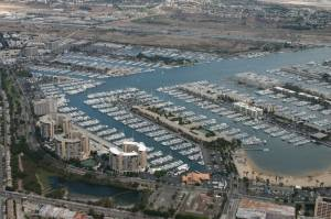 Marina Del Rey by helicopter