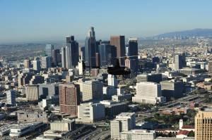 Downtown LA Skyline aerial view