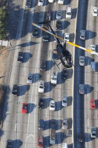 Beat LA traffic by helicopter