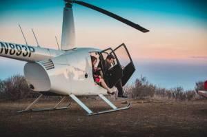 Romantic helicopter Malibu Mountain