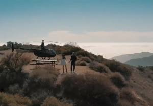 Mountain top helicopter tour Los Angeles
