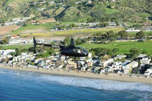 R66 Helicopter along Malibu Coast