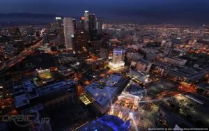 LA Live aerial view