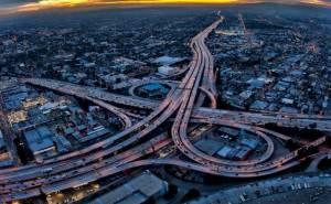 LA freeway lights