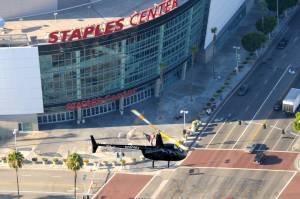 Helicopter over Staples Center