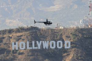 Hollywood Sign helicopter