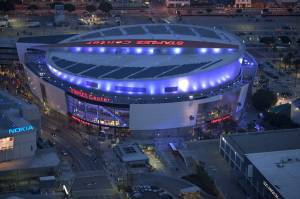 Staples Center by Helicopter
