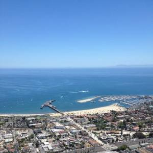 Santa Barbara Harbor aerial view