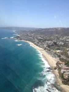Laguna Beach helicopter view