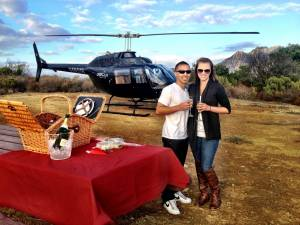 LA's Only Helicopter Mountain Top Landing Tour - Romance Package
