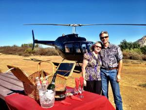 Malibu landing by Helicopter