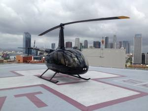 R66 Helicopter Rooftop Los Angeles
